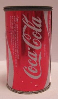 """Old Tin Figural Advertising Pencil Sharpener 2  3/4"""" COCA-COLA Can 1970s"""