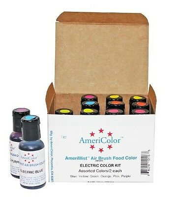 Americolor Amerimist Air Brush Food Color Kit - Electric Color Kit