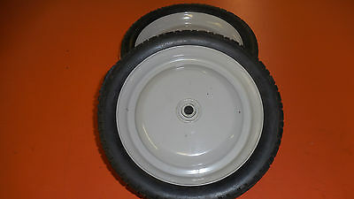 """2  Snapper wheels 8"""" solid rubber with bearings"""