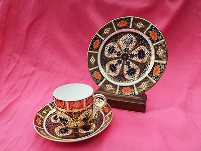 ROYAL CROWN DERBY Bone China Trio Set - Cup Saucer & Plate IMARI 1128