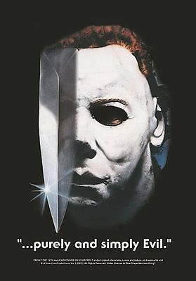 """Halloween Flagge / Fahne """"michael Myers Purely & Simply Evil"""" Poster Flag"""