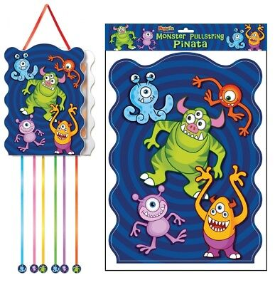 Monster Pullstring Pinata - 40cm x 30cm - Loot/Party Game Toy Kids Hang