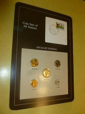 Ethiopia Socialist Coin Stamp Sets Of All Nations and Coins