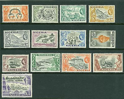 SG 60 - 80 Nigeria 1953 set of 13 values ½d - £1 fine lightly mounted / unmounte