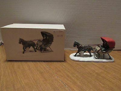 Dept 56 Heritage Village One Horse Open Sleigh #5982-0 For Your Village Display