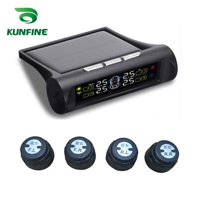 Car TPMS Tyre Pressure Monitoring System Solar Energy TPMS Digital LCD Display