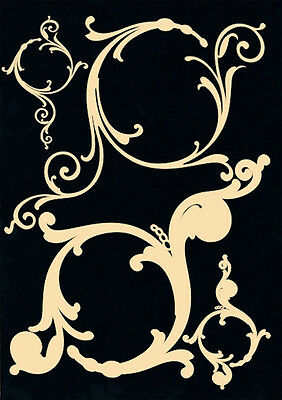 Dusty Attic DECORATIVE SCROLL #1 Chipboard Scrapbook Embellishment