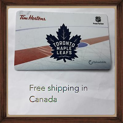 2016 Toronto Maple Leafs Tim Hortons Collectible Gift Card #2