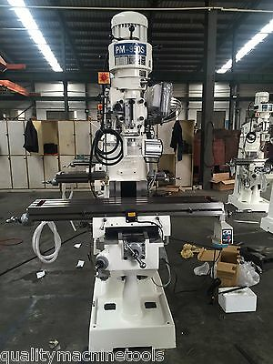 NEW PM-950S 9x50 VERTICAL KNEE MILL MILLING MACHINE 3 AX DRO, X PWR FD SINGLE PH