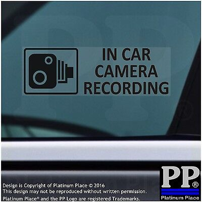 5 x In Car Camera Recording Stickers BLACK-Window Security Signs,Car,Taxi CCTV