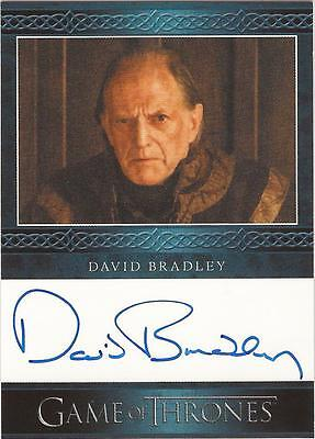 "Game of Thrones Season 3 - David Bradley ""Walder Frey"" Auto / Autograph Card"