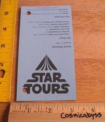 Star Tours Grand Opening ticket