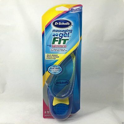 Dr Scholl'S Massaging Gel Fit Inserts For Women (new open pkg) size 6-10
