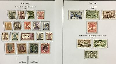 Pakistan Official Stamps 1946/47Indian Regular Issues Optd 13 V. Used Mlh*rare