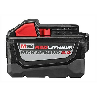 Genuine Milwaukee 48-11-1890 M18 18 Volt Red Lithium 9.0 Battery Pack