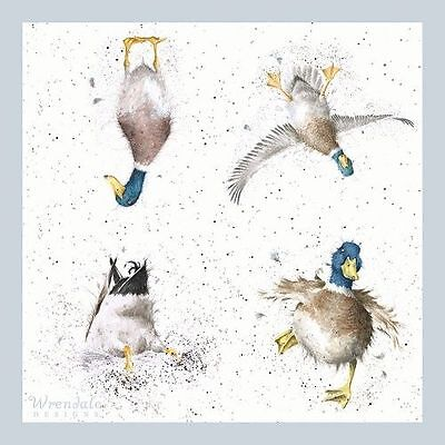 """Wrendale Design Pack of 20 """"Waddles and Quack"""" Duck 3 ply Paper Napkins"""