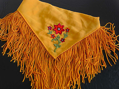 Authentic American Girl Pleasant Co Josefina Heirloom Gold Embroidered Shawl