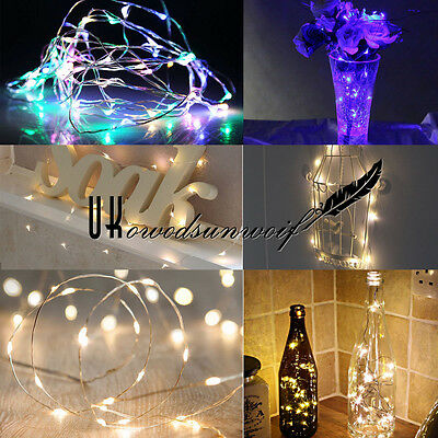 20/40/50/100Led Micro Wire String Fairy Party Xmas Wedding Christmas Lights Uk