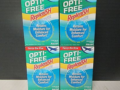 Opti-Free REPLENISH DISINFECTING SOLUTION CONTACT LENSES 4 x 2oz 1/17+ MC 6967