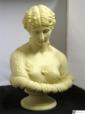 Small Moulded Plaster Or Parian Ware Bust Of A Young Woman, Circa 20th Century