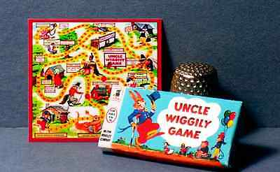 Dollhouse Miniature Uncle Wiggily Game 1950s dollhouse nursery rabbit game 1:12