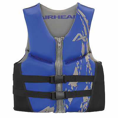 Airhead Swoosh Neolite 50-90 Lb Kwik-Dry Blue Youth Life Vest Jacket 10076-03-BL