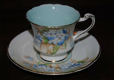Paragon Hydrangea pattern cup and saucer.1940s