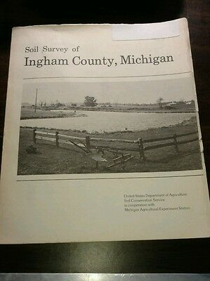 Ingham County Michigan Soil Survey 1977 Fold Out Aerial Maps