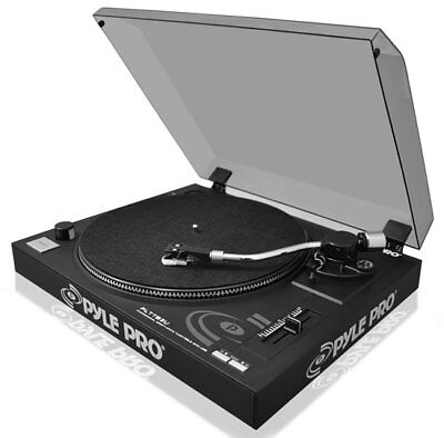 Pyle Pro Belt Drive Vinyl Turntable With Adjustable Pitch And USB Conversion
