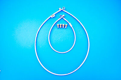 81-86 ATC250R Galfer Front and Rear Brake Lines, Clear w/ Stainless Banjos