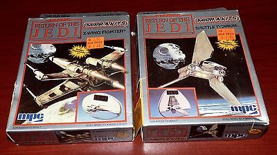 Star Wars Return Of The Jedi X-Wing And Shuttle Tydrium Mpc Mirr-A-Kits Model