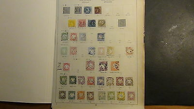 German Bavaria Bayern stamp collection on Old pages