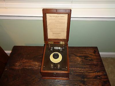 Burndept   The Ethophone JR. crystal radio with pericon detector Very nice!