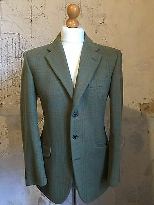 Vintage Mens Green Bladen Tweed Jacket Size 38