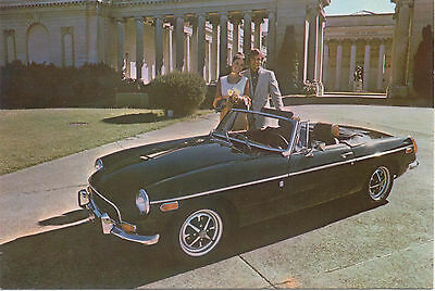 MG MGB for 1972 Original colour Factory Postcard USA issued