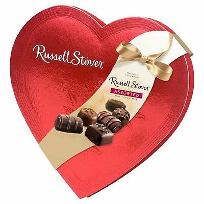 Russell Stover Candies Red Foil Heart Chocolate Assortment, 14 oz.  #226599