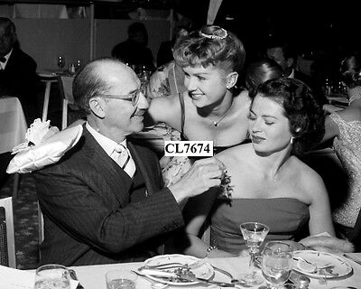 Groucho Marx, Debbie Reynolds and Wife Eden Hartford at Tropicana Hotel Photo