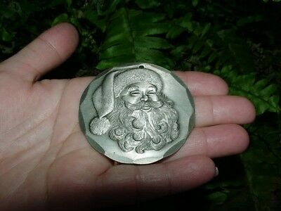 1991 SANTA FACE - Wendell August Forge CHRISTMAS ORNAMENT