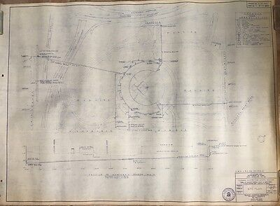 1964 Shea Stadium, Ny Mets, Reproduction Site Plan Blueprint, Flushing, Ny