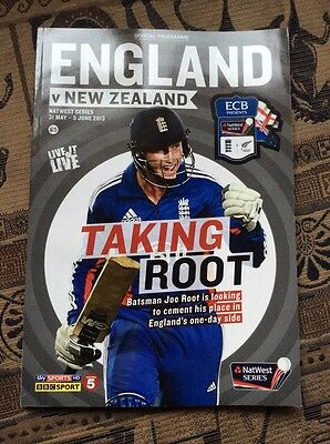 Cricket England Vs New Zealand Natwest Series 2013 Official Programme