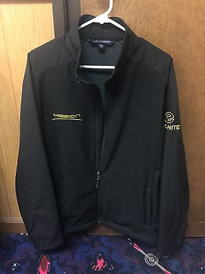 Ebonite Mission Unknown Jacket Size Large Gold Red Black Bowling Ball