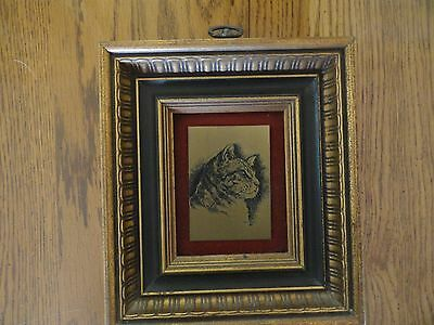 """Priceless Possessions Etchcraft Brass Etching """"The Cat"""" Picture Janet Varney '72"""