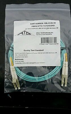 3M Fiber Optic Patch Cable/cord Lc/lc Mm Duplex 50/125