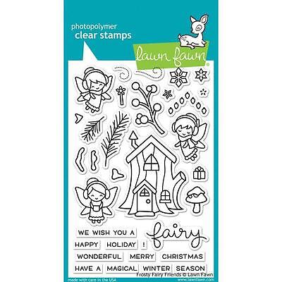 Lawn Fawn - Frosty Fairy Friends  - Christmas - Clear Stamp Set