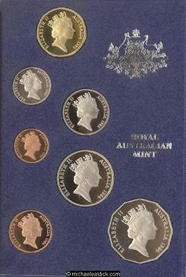 1986 Australia Proof Coin Set with International Year of Peace $1 Coin