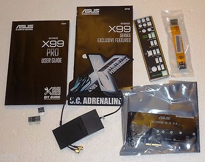 For Asus X99-Pro Set Of Used Accessories Only => Motherboard Is Not Included!