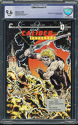 Caliber Presents #1 CBCS 9.6 White pages First Appearance of the Crow