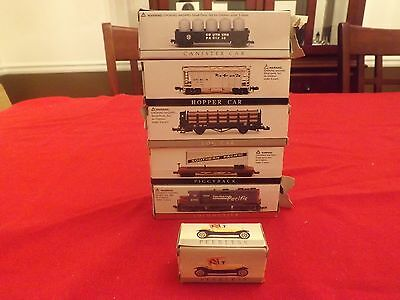 HO High Speed Metal Products Locomotive & Cars Lot of 5 Also a Peerless Car