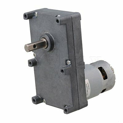 DC24V 13RPM High Torque Speed Reduction Metal Gear Motor Silver Gray
