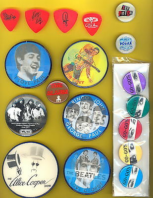 the Beatles all 4 1964 FLASHER pin badge button pinback